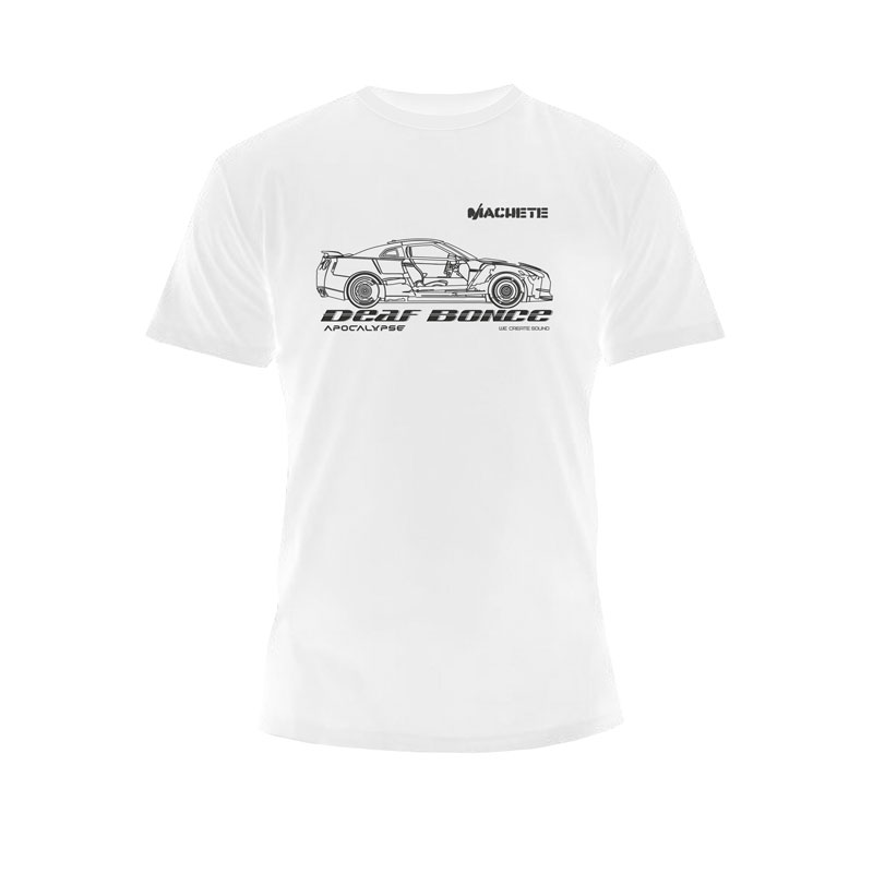 Deaf Bonce T-shirt Car White
